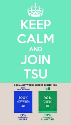 Tsu... its a new big social network that looks very close to facebook and that share its revenues with users, you're rewarded for your post, comments and share you get on them, thats one point, second is that its actualy pretty friendly and fun. if you're bored with facebook or your other usual social networks it worth a try... hope to see you there, its invite only, you can follow my link to join : TSU INVITE --- > http://www.tsu.co/Philou67