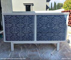 Tribal Batik Furniture Stencil