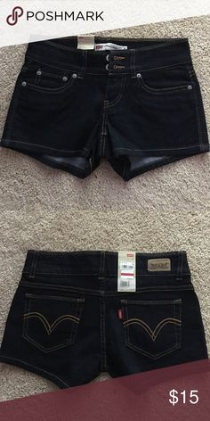 Jean shorts In excellent condition. Never been worn Levi's Shorts Jean Shorts