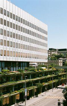 J. Prouve: Administration Building, Lausanne   Lausanne, 1969-1974  Arch.: J. Prouve  Architecture: Atelier des architectes associés R. Willomet, P. Dumartheray    Facade elements: Jean Prouvé  Photos by Carlo Fumarola