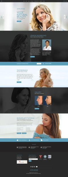 Custom responsive plastic surgery website design