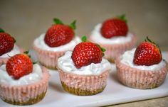 Skinny Mini Strawberry Cheesecakes   Cooking Blog