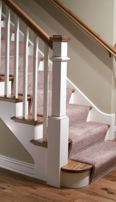 Marvelous Like How The Newel Post Is Tucked Behind The Bottom Stair, And How The Cap  Is Stained.