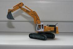 Liebherr R964 Hydraulic Excavator Free Vehicle Paper Model Download