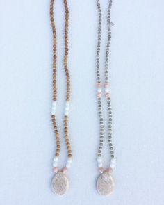Beautiful crystal mala necklaces  www.zendreamer.com