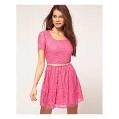 Lace Cap Sleeve Skater Dress