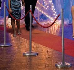 Create a Red Carpet event with Red Rope Railing. This hollywood decoration is affoardable and re-usable.