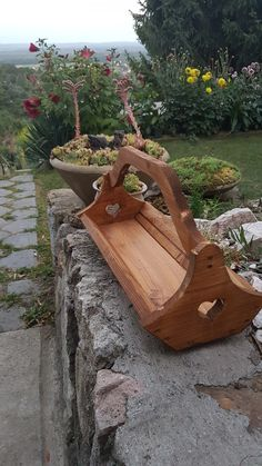 Wood garden carier
