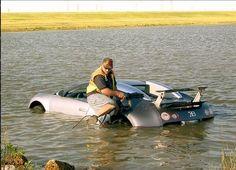 The most expensive supercar FAIL ever? Watch this Bugatti Veyron take a dip... #unreal #spon