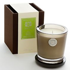 Aquiesse Bamboo Teakwood Large Soy Candle. Blend of green bamboo, Hawaiian violet, and Asian Teakwood. $29.99