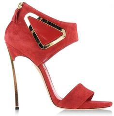 91.00$  Buy now - http://aliroc.worldwells.pw/go.php?t=32787154642 - Hot Selling Red Suede Leather Cut-out Triangle Sandals Cut-out Blade Heel Women Dress Shoes Pointed Toe Sandals Free Shipping 91.00$