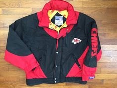 Your place to buy and sell all things handmade Nike Jacket, Rain Jacket, Retro Sportswear, Green Polo Shirts, Kansas City Chiefs, Retro Outfits, Puffer Jackets, Overalls, Windbreaker