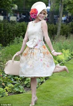 Blooming lovely! Amanda's outfit was quintessential British style