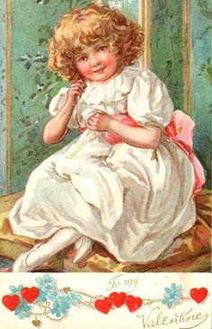 Vintage Valentine Card....  `pinterest