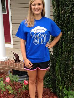 Monogram Class of 2015 TShirt Monogram by ThreeTeesBoutique