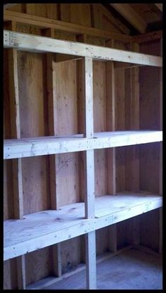Lots of simply storage shelving ideas