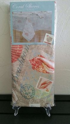 Coastal Tablecloth Coral Shores 70 Inches Round NIP #ElreneHome