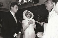 Sylvie Vartan and Johhny Hallyday at their wedding!