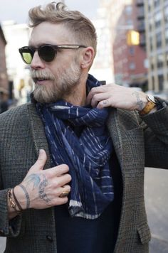 Some beard and hair inspiration. Featured on Tailored Chap before, Philip Crangi. Mens Fashion Blog, Look Fashion, Man Fashion, Fashion Menswear, Fashion Styles, Fashion Trends, Fashion Design, Old School Style, Look 2015