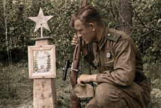 Soviet sniper Ivan Lebedev | Grave of his fallen comrade,Bry… | Flickr - Photo Sharing!
