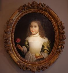 of the Infanta Maria Theresa of Spain child in French costume or Marie Therese daughter of Louis Louis XIV. For sale on Proantic by La Crédence. Maria Theresa Of Spain, Infanta Margarita, Costume Français, Spanish Netherlands, Ludwig Xiv, French Costume, Holy Roman Empire, Portrait Wall, Louis Xiv