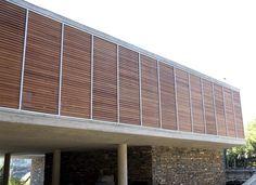 Woodbrise by Hunter Douglas Hunter Douglas, Outdoor Rooms, Outdoor Decor, Terracotta, Blinds, Architecture Design, Garage Doors, Shades, Exterior