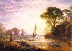 サミュエル・パーマー 《カリュプソの島、オデュッセウスの船出》