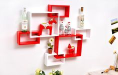 diy wall decoration ideas, wall shelves recycling frames and display cases Wooden Wall Shelves, Wall Shelves Design, Wooden Walls, Decorative Shelves, Shelf Wall, Game Room Decor, Diy Wall Decor, Bedroom Decor, Home Decor