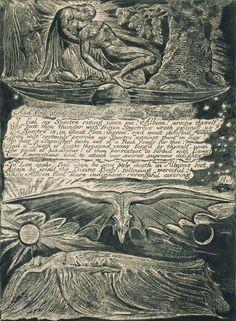 William Blake Plate 33 from Jerusalem, etching, 1820 William Blake, Art Of Fighting, Tate Britain, Angels And Demons, British Museum, Ciel, Dark Art, Great Artists, Printmaking