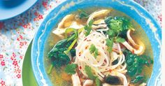 Feeling under the weather? There's nothing better than chicken noodle soup to make you feel better, expecially when it has the added goodness of garlic, lemongrass and chilli.