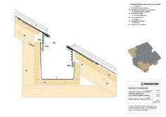 Exemple de détail pour la mise en œuvre du zinc RHEINZINK Roof Cladding, House Cladding, Green Roof Benefits, Roof Sealant, Detail Architecture, Zinc Roof, Carport Designs, Timber Structure, Weekend House