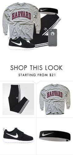 """"""""""" by alyssadesgrange ❤ liked on Polyvore featuring adidas, NIKE, OtterBox, men's fashion and menswear"""