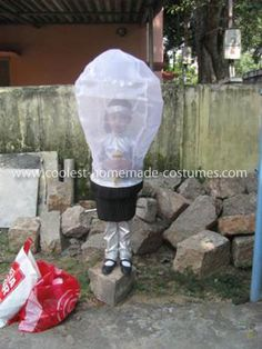 coolest home made flash light   Coolest Homemade Light Bulb and Switch Couple Costume ...