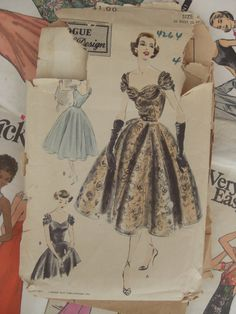 Vintage Sewing Pattern 1950s Fancy Vogue Special by sewingday, $18.00