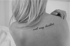 With every heartbeat. I know I said I'd never get a tattoo for someone, but I love this tattoo!