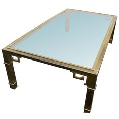 Mastercraft Asian Motif Brass And Glass Coffee Table   Can be found at Gaslamp too antique mall Nashville Tennessee booth T376
