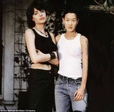 """Angelina Jolie & Jenny Shimizu A """"lesbisexual"""" power couple from the way back, these two met on the set of Foxfire, and, as Jolie put it, """"I would probably have married Jenny if I hadn't married my husband. I fell in love with her the first second I saw her."""" According to Shimizu, their relationship lasted many years and continued even while Jolie was romantically involved with other people, though it had ended by 2005."""