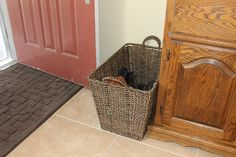 Basket for shoe storage