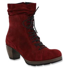 Wolky Dhofar Oxblood Greased Suede