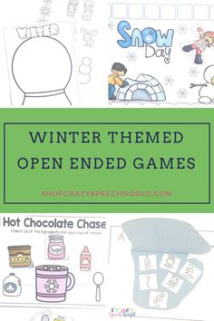 These winter speech therapy activities are perfect for your elementary caseload. Includes 8 activities that are all open ended so you can target a variety of skills!