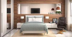 Iluminação natural no dormitório é essencial! Deixa o ambiente muito mais aconchegante.