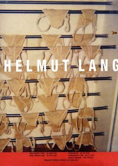 """organization: """" Helmut Lang 1992 Ad from i-D Apr. 1992 """" Redo with bras on shower curtain rod. Very sexy in the city. Creative Advertising, Fashion Advertising, Advertising Campaign, Helmut Lang, Fashion Communication, Comme Des Garcons, Margiela, In This World, Editorial Fashion"""