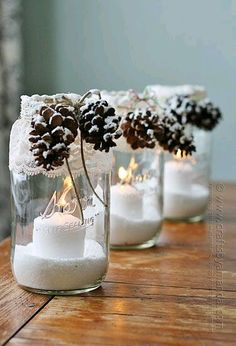 Magical Christmas Mason Jars We Can't Wait to Make Mason Jar Christmas Crafts - Christmas Crafts - Country Living Mason Jar Christmas Crafts, Noel Christmas, Mason Jar Crafts, Mason Jar Diy, Holiday Crafts, Christmas Decorations, Christmas Candles, Magical Christmas, Diy Christmas Gifts For Men