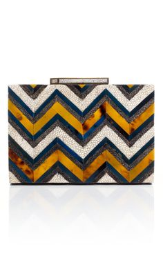 R & Y Augousti Geometric Box Clutch