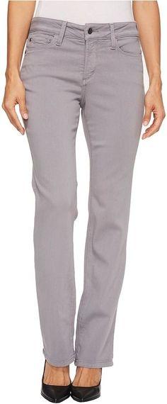 NYDJ Petite - Petite Marilyn Straight Jeans in Luxury Touch Denim in Mineral Women's Jeans