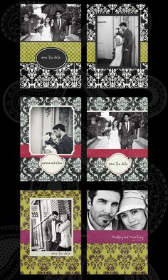Save the Date cards 3, 4 and 5. 5x7 flat.