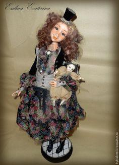 Купить Мэри и Поль - авторская кукла, интерьерная кукла, кукла ручной работы, миниатюра