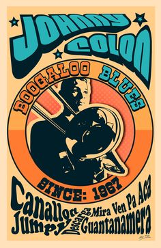 Johnny Colon, Posters 2015 on Behance 80s Posters, Band Posters, Concert Posters, Folk Music, Art Music, Music Covers, Album Covers, Salsa Musica, Harlem History