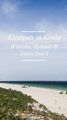 06.03.2019 - Du möchtest Kitesurfen im indischen Ozean, ohne Neoprenanzug, bei warmen Temperaturen? Entdecke die schönsten Kitespots in Kenia!