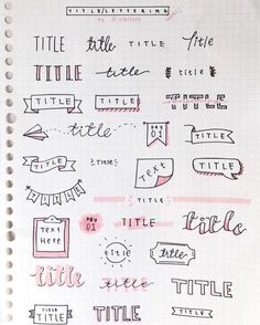Bullet Journal Setup Ideas {The layouts your BUJO might be missing!} Take your bujo to the next level with these creative Bullet Journal setup ideas (that you can adopt at any time of the year! Bullet Journal Inspo, Organization Bullet Journal, Bullet Journal Headers, Art Journal Challenge, Art Journal Prompts, Art Journal Techniques, Art Journal Pages, Bullet Journal Title Fonts, Bullet Journal Beginning
